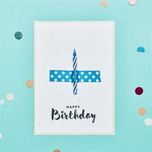 Happy birthday candle card