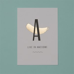 A like in Awesome gold post card