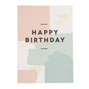 Happy birthday paint spatters  postcard