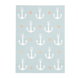 Anchors rose gold postcard
